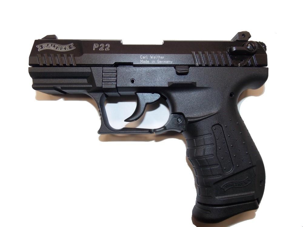 Pištoľ exp. Walther P22 čierna, kal. 9mm PA