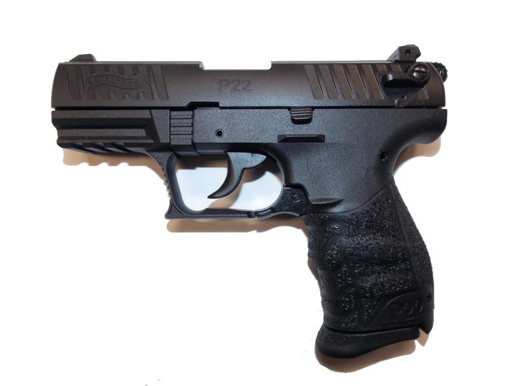 Pištoľ exp. Walther P22Q čierna, kal. 9mm PA