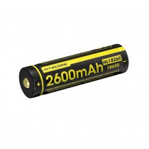 Nitecore 18650 Li-ion battery 2600mAh Micro-USB charging port